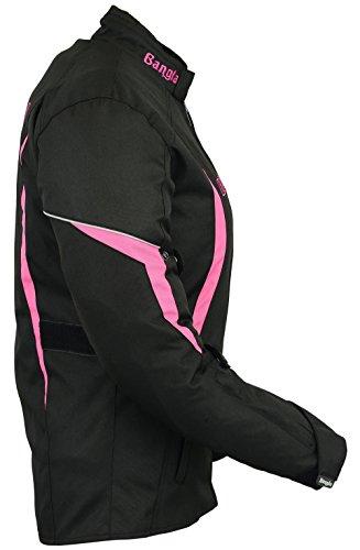 B-101 Bangla Sportliche Damen Motorrad Jacke Textil Schwarz-pink XL - 4