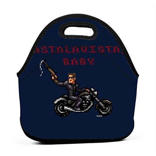 MaoMaoYongHui Terminator T1 Astalavista Baby Wiederverwendbare Lunch-Einkaufstasche Wasserdichte Picknick-Lunchbox für Schulstraßen und Büro - wasserdicht/warm/kühler