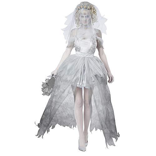 CAGYMJ Cosplay Collezione Estiva da Donna,Sexy Diavolo Vampiro Sposa Corta Abito Gonna,Pasqua Halloween Costume Carnevale Festa per Adulti,XL