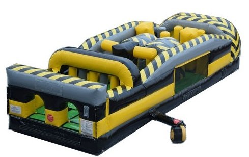 Cheapest Prices! 30-Foot Long by 11-Foot Wide 7 Element Obstacle Course, Black and Yellow Venom Colo...