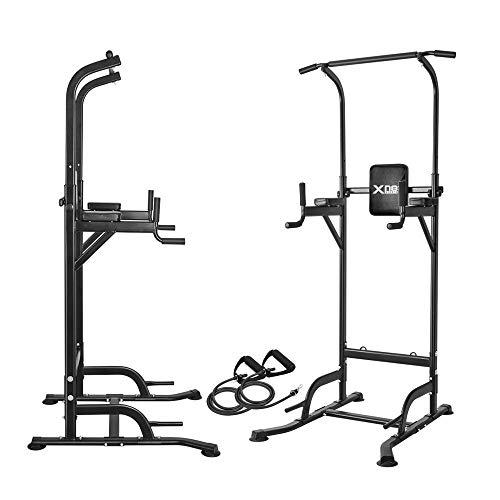 Station de musculation réglable Power Tower – Station de traction, station VKR pour abdominaux et genoux, station triceps