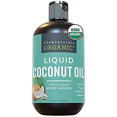 Organic Liquid Coconut Oil for Culinary & Beauty DIY Recipes, Moisturizing Hair Oil, Certified Organic & Non-GMO from…