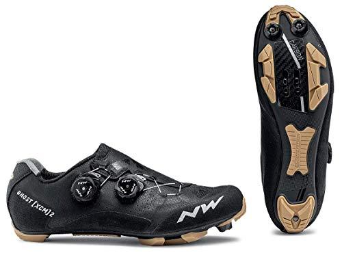 Northwave Ghost XCM 2 2020 - Zapatillas para bicicleta de montaña, color negro y dorado, negro/miel, 43.5
