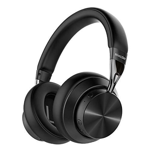Mixcder E10 Cuffie wireless con cancellazione del rumore, Bluetooth 5.0, pieghevoli, con aptX, ricarica rapida, audio stereo Hi-Fi, 30 ore di riproduzione, Nero