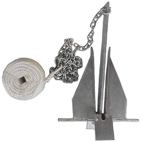 MarineNow Deluxe Portable 8.5 lb Fluke Style Anchor Kit