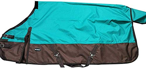 TGW RIDING 1200Denier Waterproof and Breathable Horse Sheet Horse Blanket (72', Turquoise)