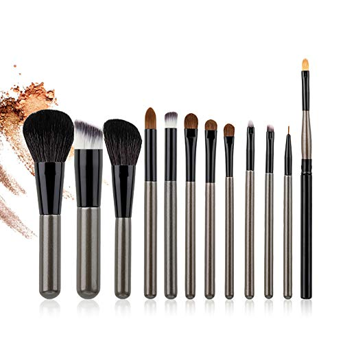 Jeu De Pinceaux De Maquillage 12 Pièces Professionnels Cosmétiques Fond De Teint Blush Contour Outils De Maquillage