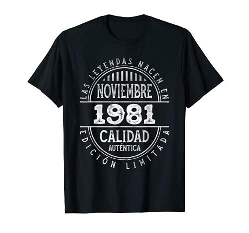 Las Leyendas nacen en Noviembre de 1981 - 40 años Cumpleaños Camiseta