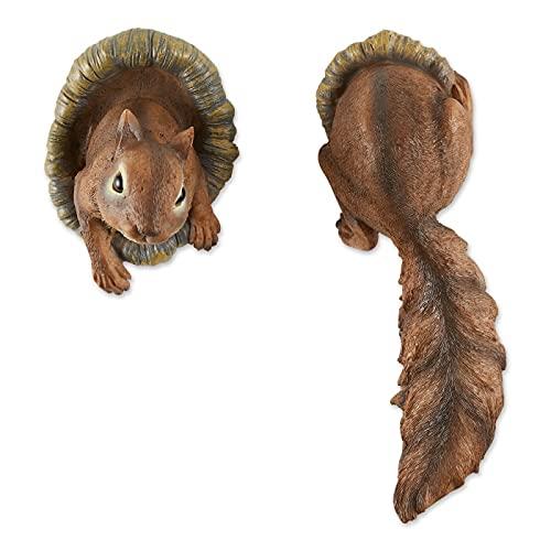 Home Locomotion Woodland Squirrel Tree Decor 2PK
