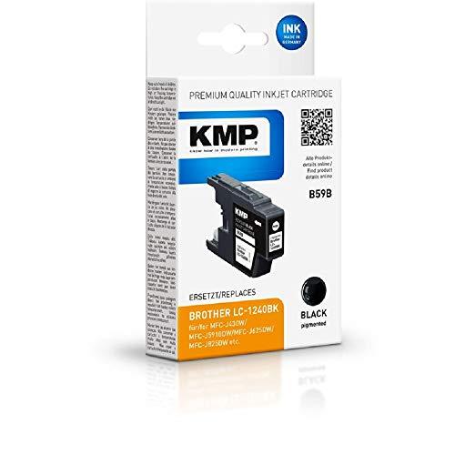 KMP B59B - Cartucho de Tinta para Brother LC1240BK (Alternativo a B37), Color Negro