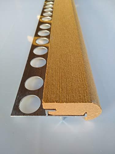 Mamperlán Perfil fibra para peldaño y escalera Maple (1,00)
