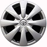 Genuine OEM Hubcap | Fits 2009-2013 Toyota Corolla | Professionally Reconditioned Like-New | 15-inch Factory Replacement Wheel Cover | 61147a | Chrome Logo