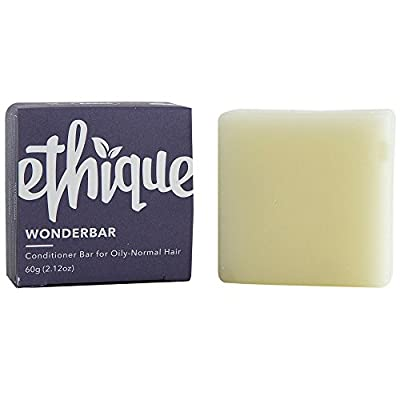 Ethique Eco-Friendly Solid Conditioner Bar for Oily-Normal Hair, Wonderbar - Sustainable Natural Conditioner, Plastic Free, 100% Soap Free, Vegan, Plant Based, 100% Compostable and Zero Waste, 2.47oz