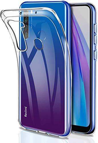 Captor Cover Trasparente per Xiaomi Redmi Note 8T, Custodia TPU in Silicone Flessibile Morbida e Sottile, Protezione Full Body con Bordo Rialzato per Schermo e...