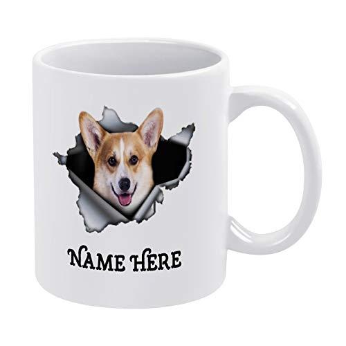3D-Effekt Kaffeetasse, Corgi, Dekoration, Corgi Tasse, Hund, Hund, Tierliebhaber, lustige Keramik Kaffee Tee Tasse Geschenk für Freund Familie Liebhaber Kollegen, 450 ml