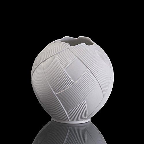 Goebel Kugelvase, Porzellan, Weiß, 14,5