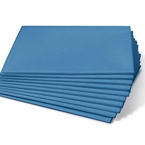 Dr. Güstel Waschfaserlaken ® CLASSIC blau 120x210cm 5 Stück STANDARD 100 by OEKO-TEX®-zertifizierte Vlieslaken Auflagen für Massageliegen Kosmetik- und Wellnessliegen
