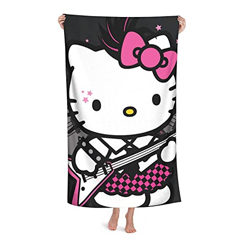 FPcustom Outdoor Beach Towel Aoliaofc Hello Kitty Superfine Fiber Quick-Drying Towel Adult Bath Towel