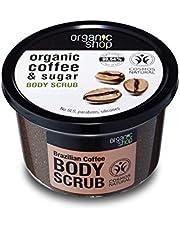 Organic Shop Body Scrub Natural Brazilian Coffee and Sugar 250ml