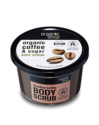 Organic Shop Body Scrub Natural Brazilian Coffee and Sugar 250ml