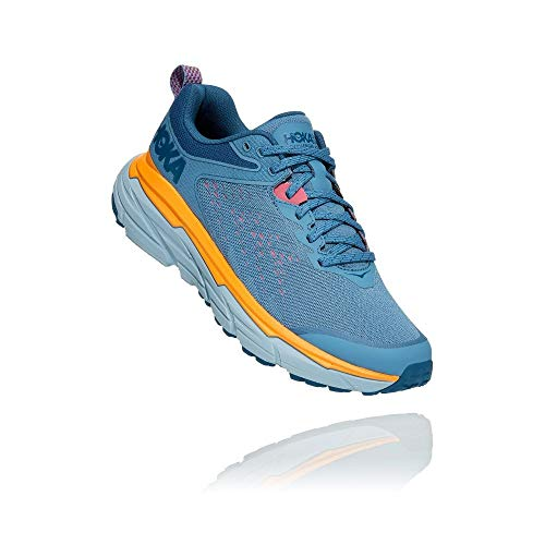 HOKA ONE ONE Womens Challenger ATR 6 Textile Synthetic Provincial Blue Saffron Trainers 5.5 US
