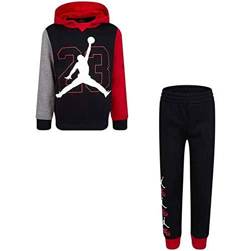 Jordan Chándal infantil Box Fleece Negra Cod 85A237-023 Nero/Rosso/Grigio 6-7 Años