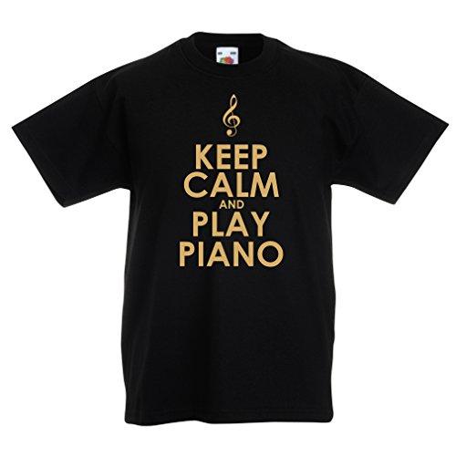 lepni.me Kids T-shirt houden kalm en spelen Piano voor muziek liefhebber Pianist Gift