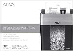 Ativa Shredder Lubricant Sheets, Pack of 12