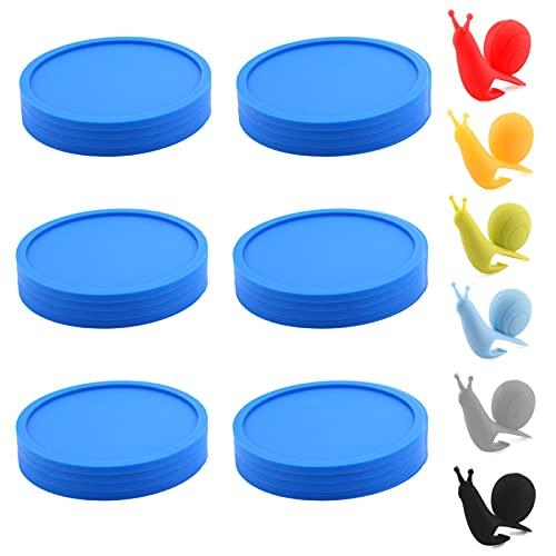 TBoxBo 6 posavasos de silicona antideslizantes para bebidas, redondos, suaves, para proteger todas las superficies de la mesa, para bebidas calientes y frías, taza, botella de vino, hogar y bar