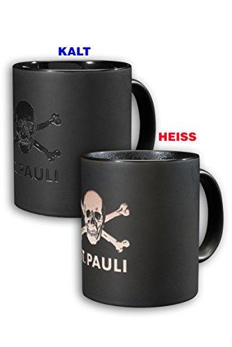 St. Pauli Totenkopf Magic Kaffeebecher Tasse mit Temperaturfarbwechsel
