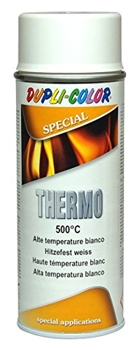 Super Hitzelack Thermolack Hochtemperatur Auspufflack 500 C Weiss 400ml