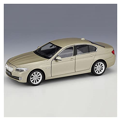 Car Model 1:24 for B-MW for 535i Alloy Car Model with Direction Rotation Toy Car Metal Diecast Vehicle Kids Gift Souvenir (Color : Gold)
