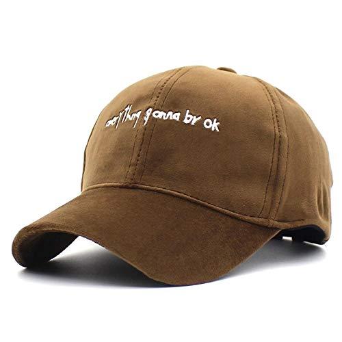 Casquettes de Baseball Adultes et Enfants Lettre Chapeaux de relance pour Femmes Filles Automne Chapeaux Casquette Fashion équipée Bonnet @ Brown_for_Adult