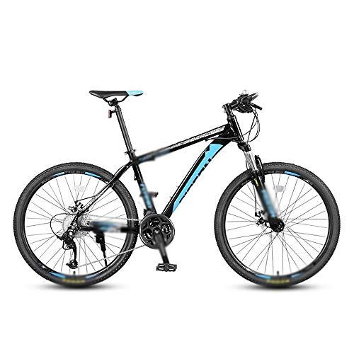 HHHKKK Mountainbike Bike Gabelfederung 27-Gang-Freischaltung, Rahmen aus Aluminiumlegierung, Doppelschichtiger, Verdickter Messerring, 9 Drehbare Turmdrehräder