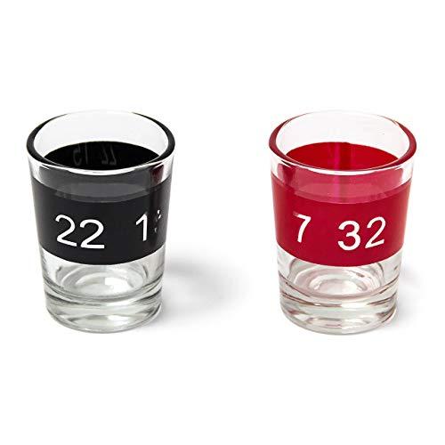 Relaxdays Roulette Trinkspiel, Partyspiel mit Drehrad, Schnapsgläsern & Kugeln, Roulettespiel für Partys, rot/schwarz - 6
