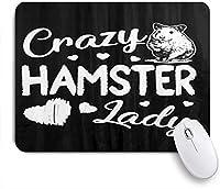 NIESIKKLAマウスパッド クレイジーハムスターレディーかわいいハート ゲーミング オフィス最適 高級感 おしゃれ 防水 耐久性が良い 滑り止めゴム底 ゲーミングなど適用 用ノートブックコンピュータマウスマット