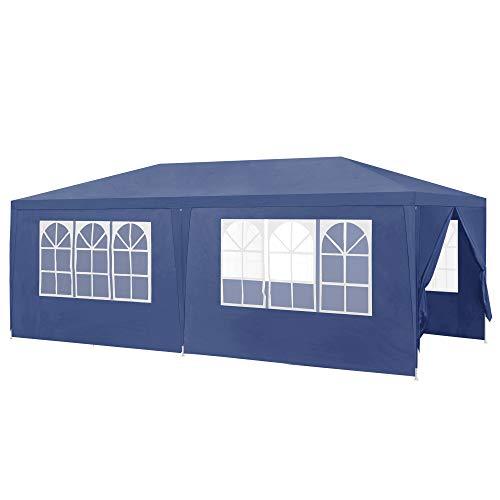 [casa.pro]® Pavillon 600x300x255cm Gartenzelt Partyzelt Gartenpavillon Bierzelt Festzelt Dunkelblau