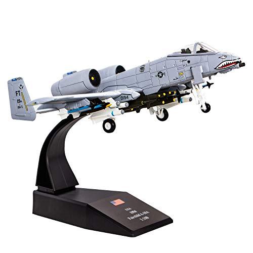 1/100 A-10 Thunderbolt II Warthog Angriffsflugzeug (lackierte Version), Metall-Kämpfer-Militärmodell, Druckguss-Flugzeug, Modell für Sammlung oder Geschenk
