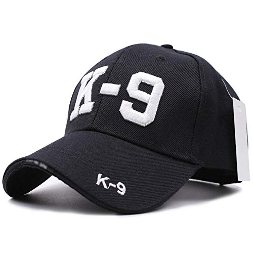 Cap 3D Gestickte K9 Hund Polizist Cops K 9 Service Dog Baseball Cap Caps Männer Hut Hüte Verstellbare Kappe Polizist Kappe Hut K9 Schwarz