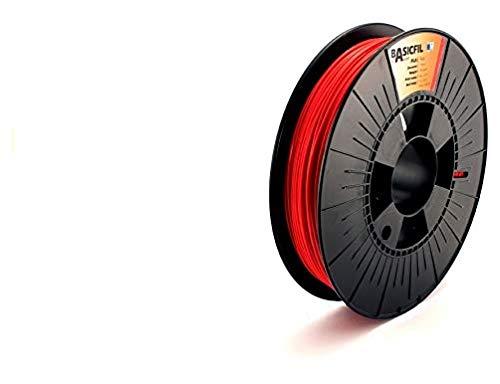 BASICFIL PLA  1.75mm, 500 gr, 3D printing filament , Red