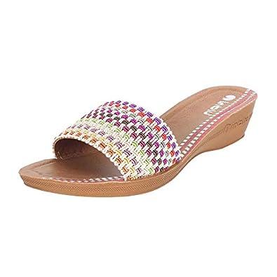 inblu Women's SP41 Black Fashion Sandals