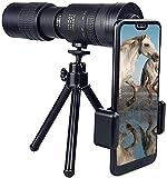 HLSH Telescopio monocular con Zoom telefoto de 10-30x40mm, telescopios de visión Nocturna a Prueba de Agua con Soporte, para Adultos, Aves, Camping