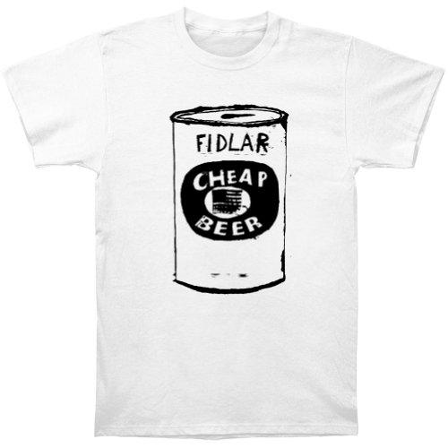 Hpyeed Fidlar Heren Goedkope Bier T-shirt Wit