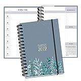 Kalender 2022 | DIN A5 I 2 Seiten pro Woche I Terminplaner Organizer als Ringbuch mit Hardcover, Gummiband und Lesezeichen, To Do Listen & viele nützlichen Extras