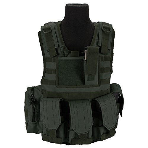 Makes you TactiCOOL!! Size: Junior, Adjustable (Fits most children ages 7 to 12) Material: High Durability Nylon Fabric Integrated Mag Pouches holds up to 8x M4/M16 or equivalent Manufacturer: Matrix Tactical Systems