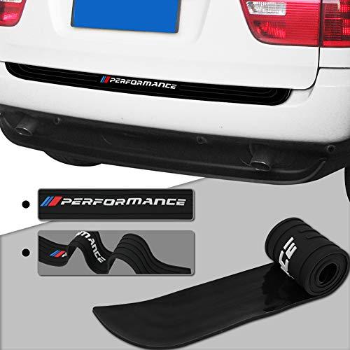 Meng Anna Durable Car Rear Bumper Protector Rubber Compatible For BMW E39 E46 E90 F30 F01 F10 F20 F32 F33F And All 3/5/7 Series (90CM/35.4inch Universal Black)