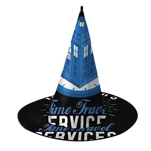 Sombrero de Halloween Servicios de Viaje en el Tiempo Doctor Who Sombrero de Bruja Halloween Disfraz Unisex para Vacaciones Halloween Navidad Fiesta de carnavales
