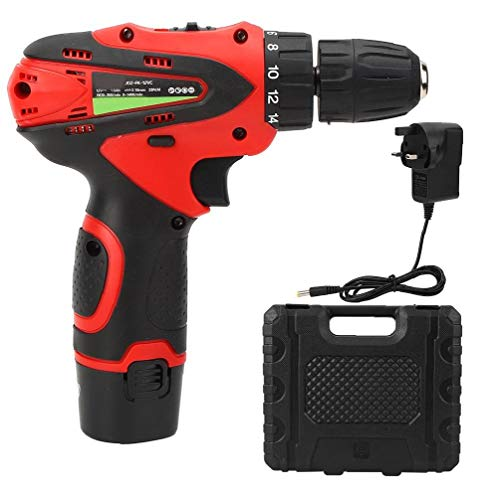 Lithium Drill Cordless Drill Electric Screwdriver 12v Drill Set Two-speed Red Battery Project Tool Power Tools