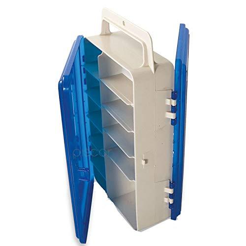Lineaeffe Boîte 2 Couvercles 1 26.5 x 16.3 x 7.8 cm Boîte de Pêche Rangement Accessoire Leurre Hameçon Compartiment Plastique