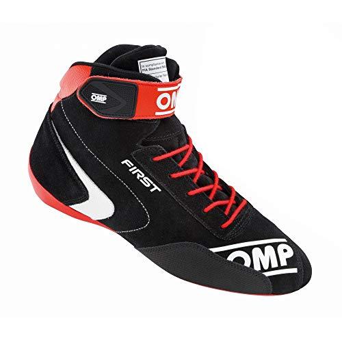Omp IC/802E07341 laarzen van suède, zwart/rood/wit, 41